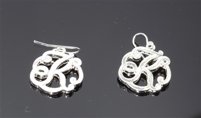 OE1544S K MONOGRAM EARRINGS