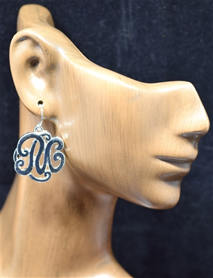OE1546S M MONOGRAM EARRINGS
