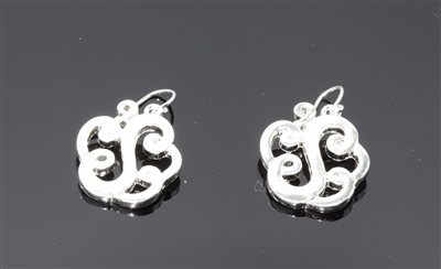 OE1550S S MONOGRAM EARRINGS