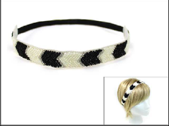 OH0072 BEADED/RHINESTONE STRETCH HEADBAND