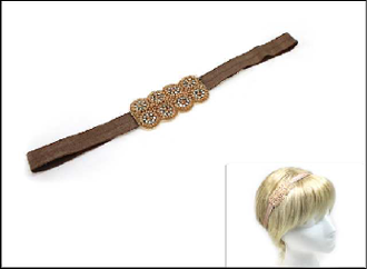 OH0244 BEADED STRETCH HEADBAND