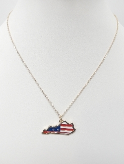 ON1018 AMERICAN FLAG KY NECKLACE