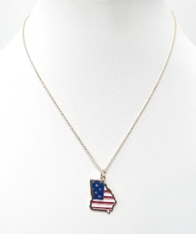 ON1024 AMERICAN FLAG GA NECKLACE