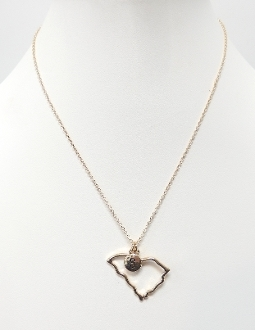 ON1059 STATE SC CHARM NECKLACE