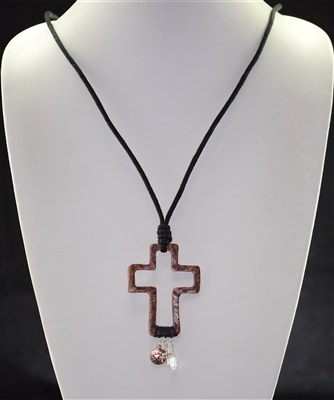 ON19023T Antique Psalm Cross Necklace