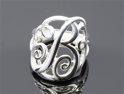 OR0608S B MONOGRAM RING