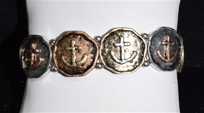 QB-4888 ANCHOR STRETCH BRACELET