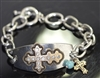 QB-5710 ANTIQUE CROSS BRACELET