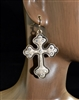 QE-3434 RHINESTONE CROSS EARRINGS