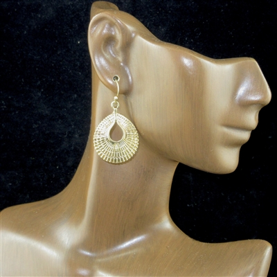 QE-4875 HAMMERED SMALL EARRING