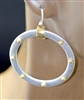 QE2107 HAMMERED OPEN CIRCLE POST EARRINGS