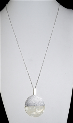 QN4024 CIRCLE CHAIN ACRYLIC NECKLACE