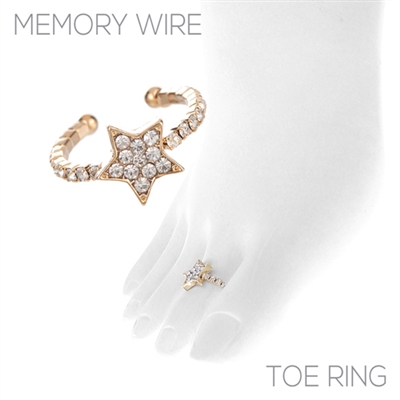 R1449TCR STAR RHINESTONE TOE RING