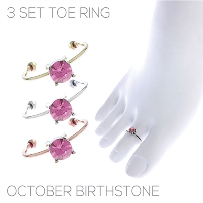 R1464 SET OF 3 TOE RING