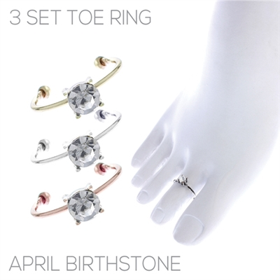 R1464TCR SET OF 3 TOE RING