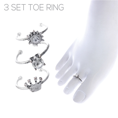 R1470TCR 3 SET TOE RING
