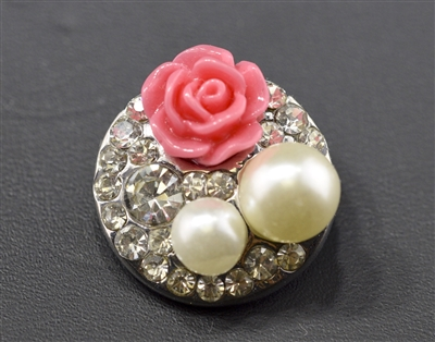 SBC-0001 ROSE/PEARLS BUTTON