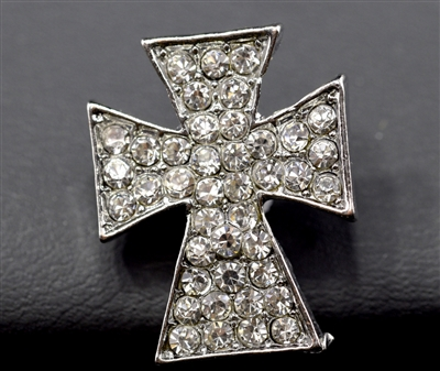 SBC-0022 RHINESTONE CROSS SNAP BUTTON