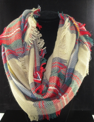 SC0009 PLAID MULTI COLOR SCARF