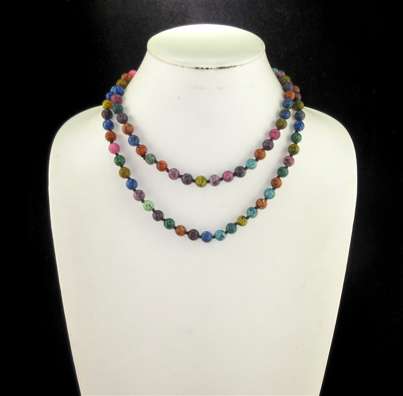 "SC368MUL 36"" POLISHED MULTI COLOR SEMI PRECIOUS STONE NK"