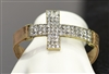 SJB1025 RHINESTONE CROSS LEATHER BRACELET