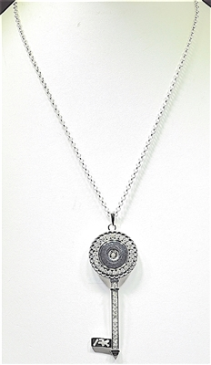 SN003 KEY SNAP BUTTON NECKLACE