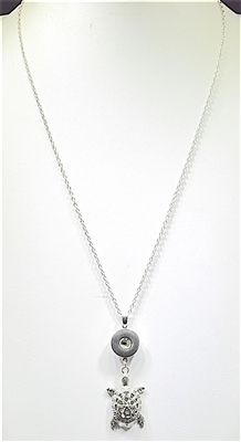 SN005 TURTLE SNAP BUTTON NECKLACE
