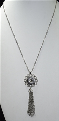 SN016 ANTIQUE SNAP BUTTON NECKLACE
