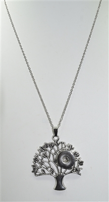 SN020 TREE SNAP BUTTON NECKLACE