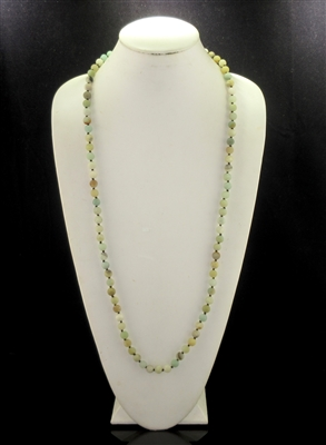 "SN368AM 36"" AMAZONITE SEMI PRECIOUS STONE NECKLACE"