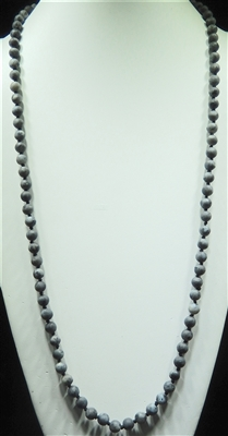 SN368DG 36'' 8MM DARK GRAY SEMI PRECIOUS STONE NECKLACE