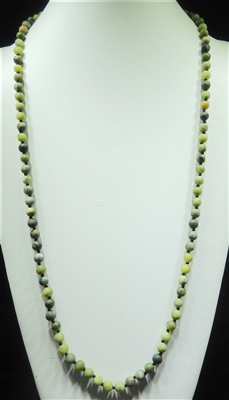 SN368LM 36'' 8MM LIME SEMI PRECIOUS STONE NECKLACE