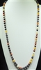 SN368MC 36'' 8MM MULTI CORAL SEMI PRECIOUS STONE NECKLACE