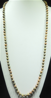 "SN368MG 36"" 8MM MUDDY GREEN SEMI-PRECIOUS STONE NECKLACE"