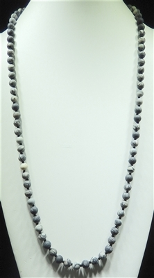 "SN368MSG 36"" 8MM SWIRL GRAY SEMI-PRECIOUS STONE NECKLACE"