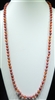 SN368WM 36'' 8MM WATERMELON SEMI PRECIOUS STONE NECKLACE