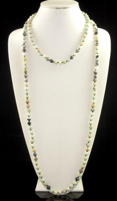"SN608AM 60"" 8MM AMAZONITE STONE NECKLACE"