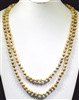 "SN608BRW 60"" 8MM BROWN MULTI SEMI PRECIOUS STONE NECKLACE"