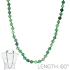 "SN608EG 60"" 8MM EMERALD GREEN SEMI PRECIOUS STONE NECKLACE"