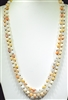 "SN608PE 60"" 8MM PEACH SEMI PRECIOUS STONE NECKLACE"