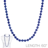 "SN608RB 60"" 8MM ROYAL BLUE SEMI PRECIOUS STONE NECKLACE"