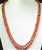 "SN608WM 60"" 8MM WATERMELON SEMI PRECIOUS STONE NECKLACE"