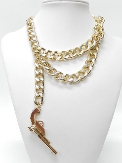 SNK228 CHAIN GUN NECKLACE