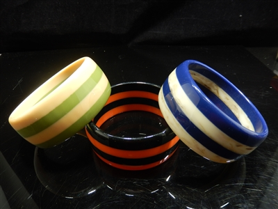SZ-132 CIRCLE STRIPE CIRCLE BANGLE