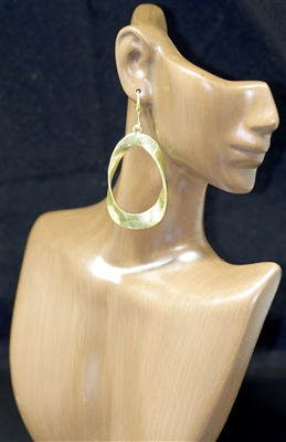 TE0042 TWISTED OPEN TEARDROP DANGLE EARRING