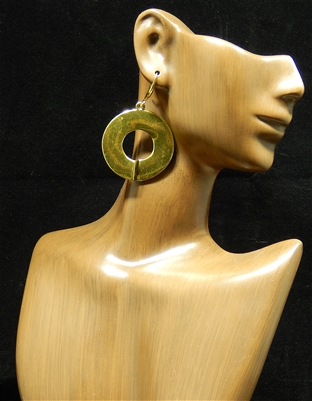 TE0101 ANTIQUE OPEN CIRCLE EARRINGS