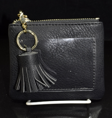 WL1890 SMALL LEATHER TASSEL WALLET