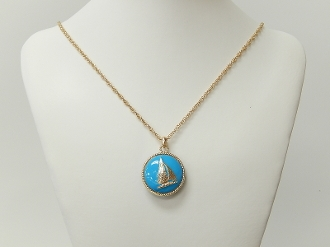 WN980 ANTIQUE BOAT NECKLACE