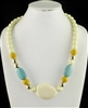 XN-1088 BEADED ACRYLIC NECKLACE