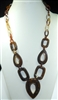 XN-1105 LONG CHAIN ACRYLIC NECKLACE